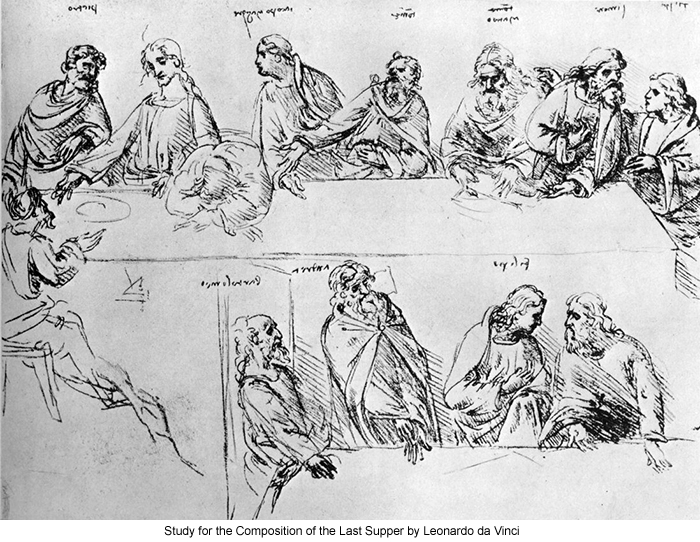 Study for the Composition of the Last Supper by Leonardo da Vinci