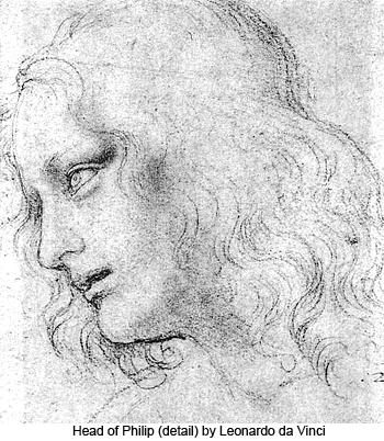 Head of Philip (detail) by Leonardo da Vinci