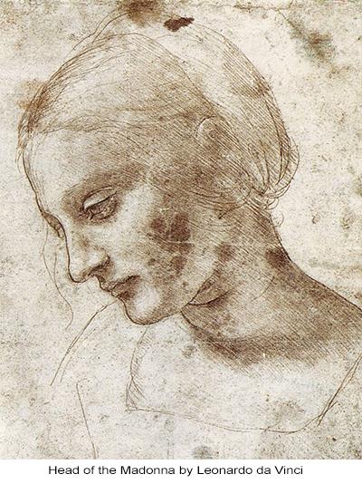 Head of the Madonna by Leonardo da Vinci
