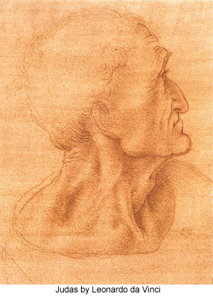 Judas by Leonardo da Vinci