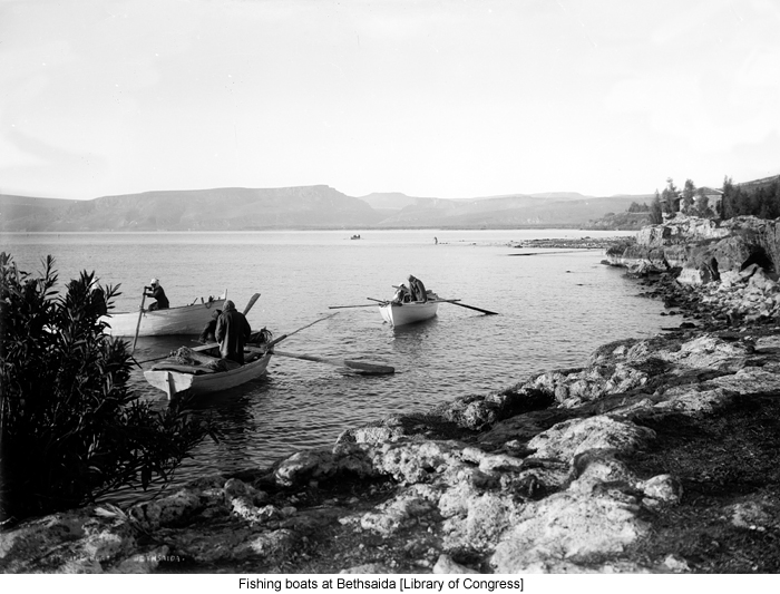 Fishing boats at Bethsaida [Library of Congress]