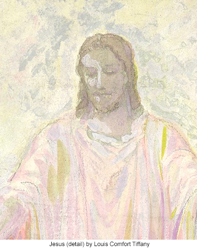 Jesus (detail) by Louis Comfort Tiffany