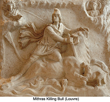 Mithras killing a sacred bull - The Louvre