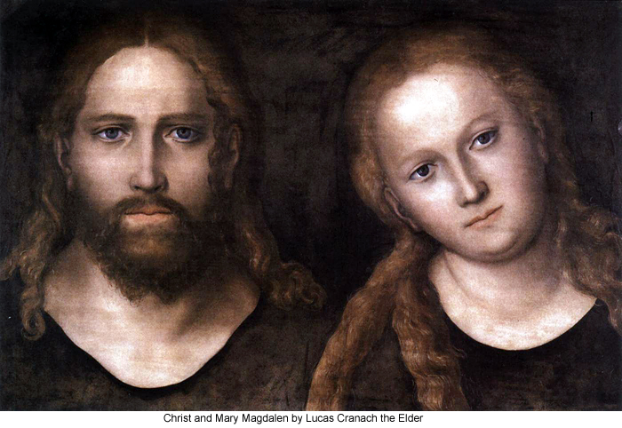 Christ and Mary Magdalen by Lucas Cranach the Elder