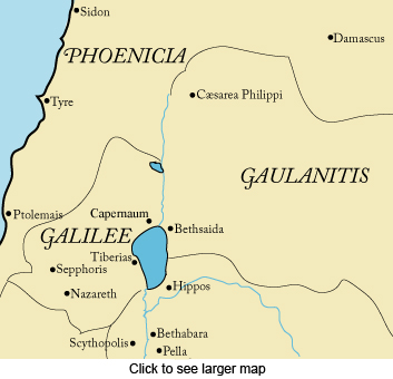 First Century Palestine, Galilee, map