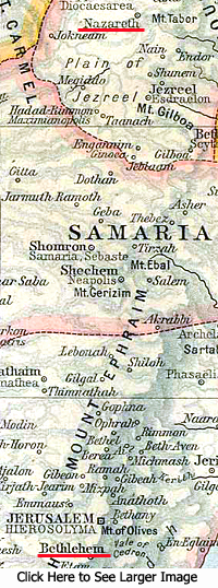 Map of Samaria - click for larger