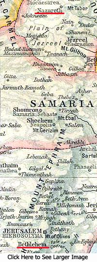 Map of Samaria