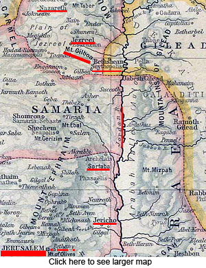 The Route From Nazareth to Jerusalem
