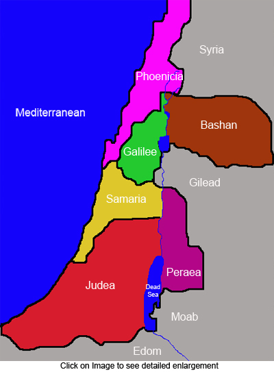 Simple map of Palestine