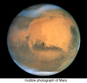 Hubble photograph of Mars
