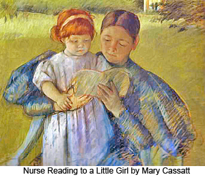 Nurse Reading to a Little Girl by Mary Cassatt