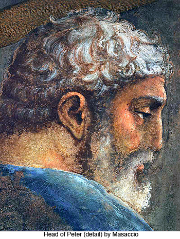 Head of Peter (detail) by Masaccio
