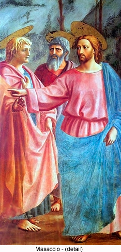 The Tribute Money (detail) by Masaccio