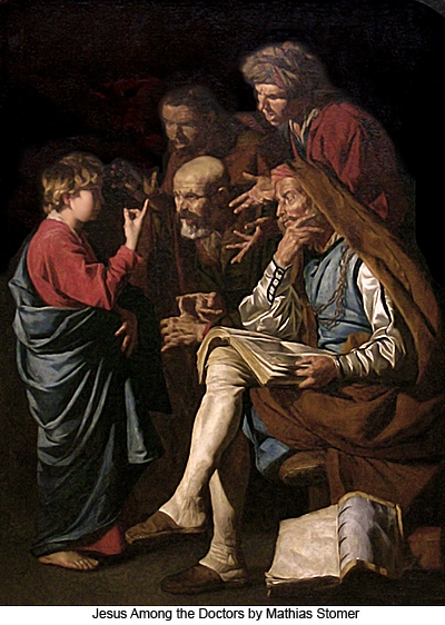 Jesus Among the Doctors by Mathias Stomer