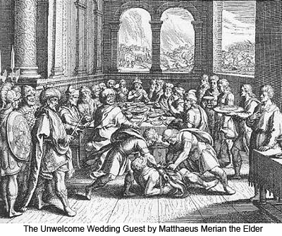 The Unwelcome Wedding Guest by Matthaeus Merian the Elder