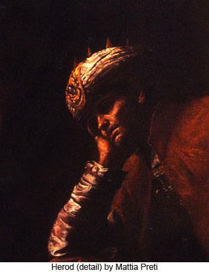 Herod (detail) by Mattia Preti