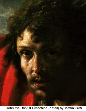 John the Baptist Detail by Mattia Preti