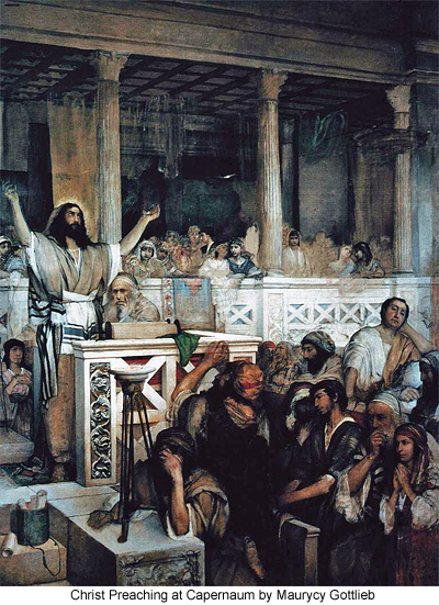 Christ Preaching at Capernaum by Maurycy Gottlieb