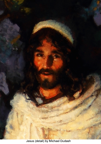 Jesus (detail) by Michael Dudash