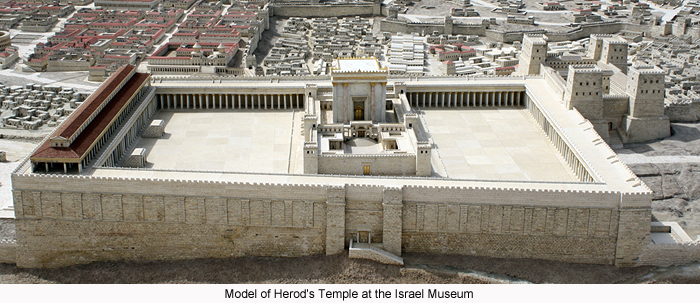 Model of Herod's Temple at the Israel Museum