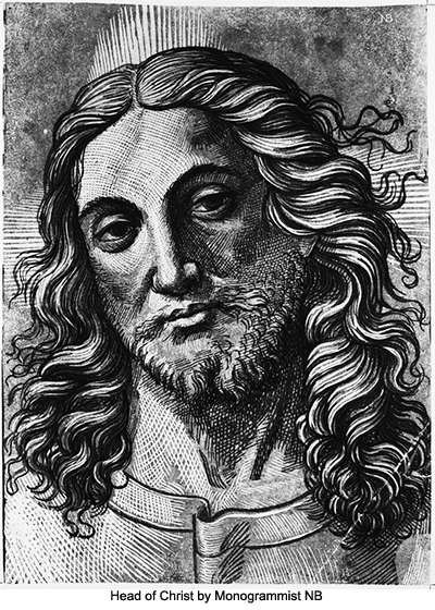 Head of Christ by Monogrammist NB