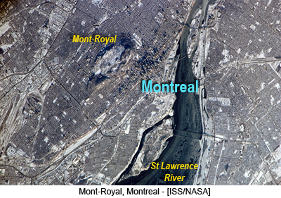 Mont-Royal, Montreal - [ISS/NASA]