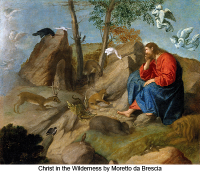 Christ in the Wilderness by Moretto da Brescia