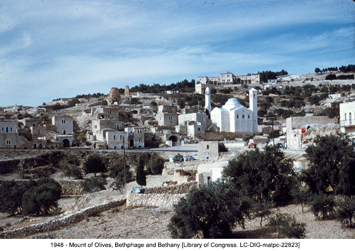 1948 - Mount of Olives, Bethphage and Bethany [Library of Congress. LC-DIG-matpc-22823]