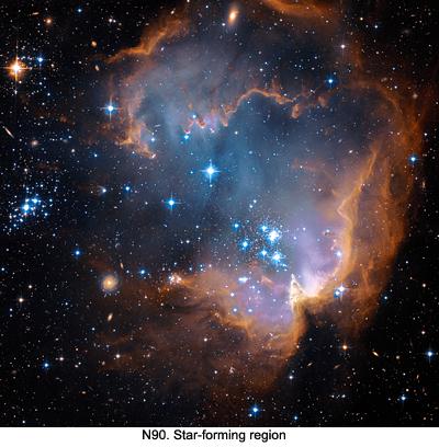 N90 Star forming region