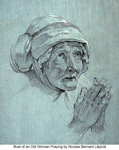 Bust of an Old Woman Praying by Nicolas Bernard Lépicié