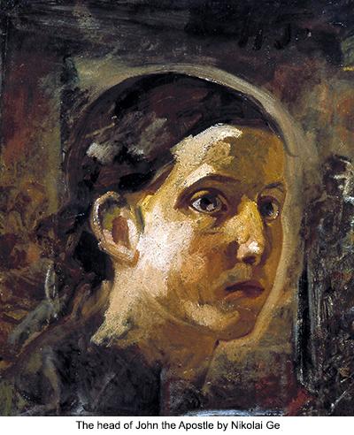 The head of John the Apostle by Nikolai Ge