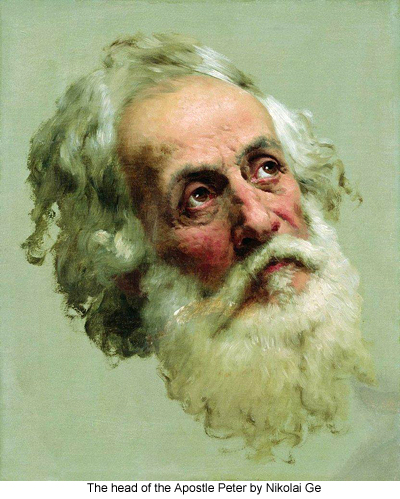 The head of the Apostle Peter by Nikolai Ge