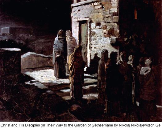 Christ and His Disciples on Their Way to the Garden of Gethsemane by Nikolaj Nikolajewitsch Ge