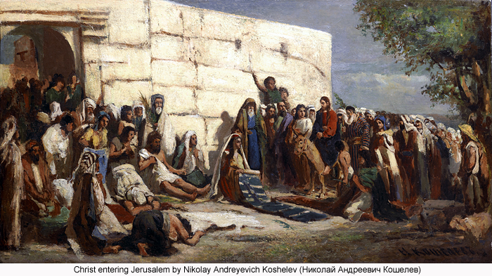 Christ entering Jerusalem by Nikolay Andreyevich Koshelev (???????? ?????????? ????????)