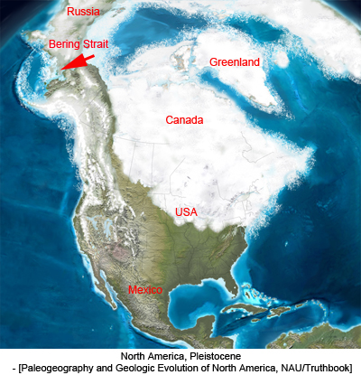 North America, Pleistocene - [Paleogeography and Geologic Evolution of North America, NAU/Truthbook]
