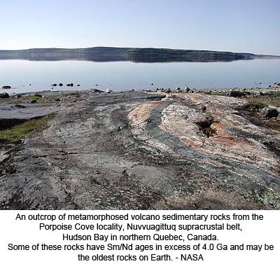 Nuvvuagittuq rock, Hudson Bay, Canada - NASA
