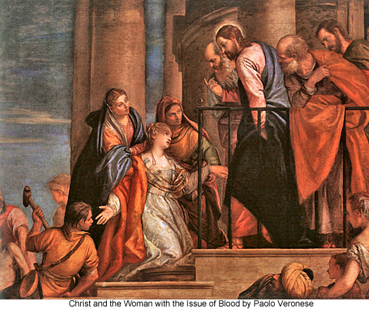 Christ and the Woman with the Issue of Blood by Paolo Veronese