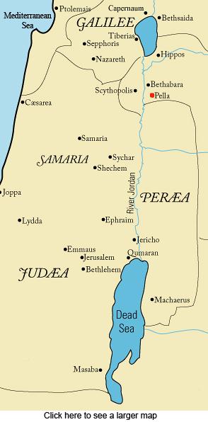 Perea, Judea, Samaria, map