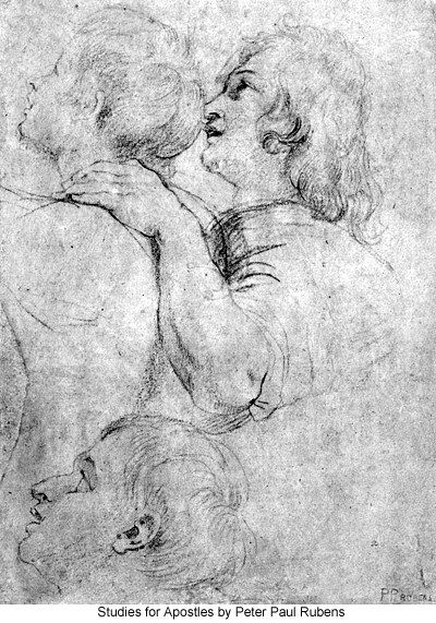 Studies for Apostles by Peter Paul Rubens