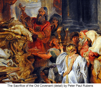 The Sacrifice of the Old Covenant (detail) by Peter Paul Rubens