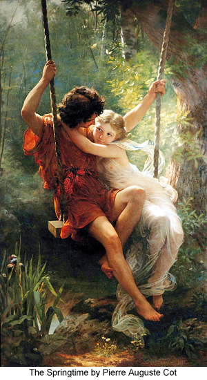 The Springtime by Pierre Auguste Cot