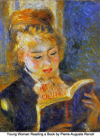 Young Woman Reading a Book by Pierre-Auguste Renoir