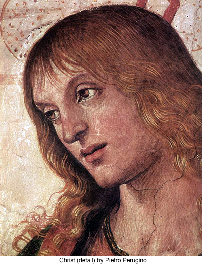 Christ (detail) by Pietro Perugino