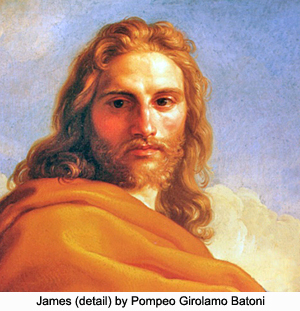 James (detail) by Pompeo Girolamo Batonli