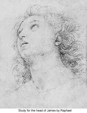 Study for the Head of James by Raphael