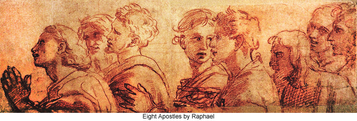 Eight Apostles by Raphael