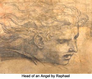 Head of an Angel by Raphael
