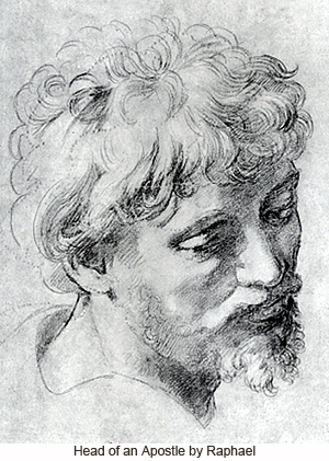 Head of an Apostle by Raphael