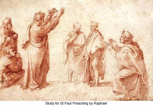 Study for St Paul Preaching in Athens by Raphael