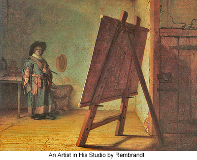 An Artist in His Studio by Rembrandt